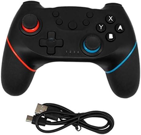 CYFC Nintend用6軸ハンドルワイヤレスのBluetoothゲームパッドでスイッチコンソールの場合プロNS-スイッチProのゲームジョイスティックコントローラを切り替えます (Color : Left red right blue)