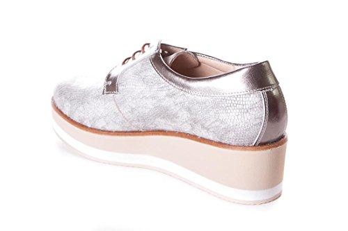 Argent pour Métallique Tolino Femme Chaussures de à Ville Lacets qv6zgvx