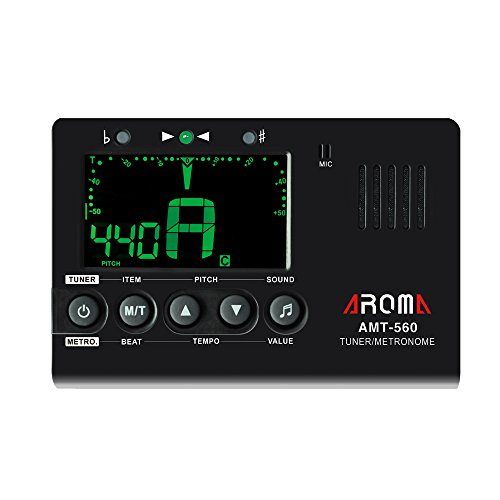 aroma-amt-560-guitar-tuner-guitar-metronome-built-in-mic-with-pickup-cable-for-guitar-chromatic-bass