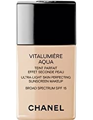 Chanel Vitalumiere Aqua Ultra Light Skin Perfecting Make up SFP 15 30ml/1oz#12 Beige Rose