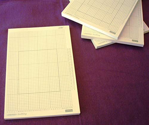 Grid Paper 100 Sheets for All 24-Stitch Pattern Punch Card Knitting Machine