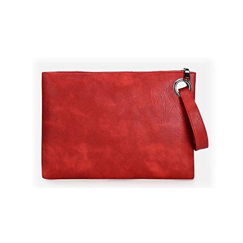 De Sac Sac À D'Embrayage D'Embrayage Sacs Bracelets Sacs Solide amp;QIUMEI Femmes Couleur Main OME red Enveloppe 05ITfqA