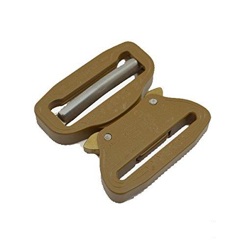 AustriAlpin COBRA Buckle 7075 Aluminum Quick Release Adjustable Coyote Brown (1.5'' (38MM)) by COBRA BUCKLE