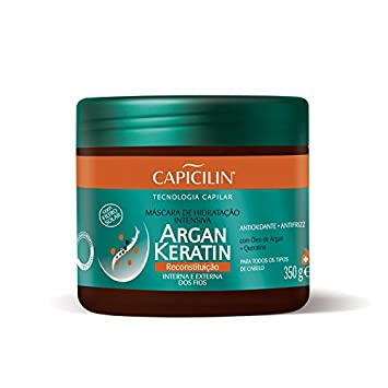 Amazon.com: Linha Argan Keratin Capicilin - Mascara De Hidratacao Intensiva 350 Gr - (Capicilin Argan Keratin Collection - Intensive Moisturizing Mask 12.35 ...