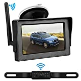 iStrong Backup Camera and Monitor Kit for Car/SUV/Minivan with 4.3'' Monitor 9V-24V System 7 White Light LED Night Vision Waterproof License Plate Camera
