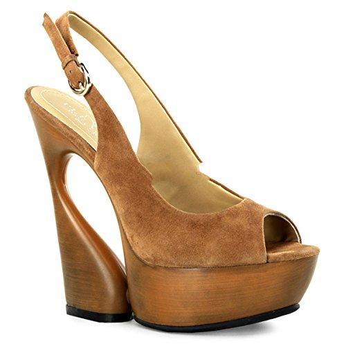 Pleaser Day & Night - Zapatos de vestir de piel para mujer marrón Braun