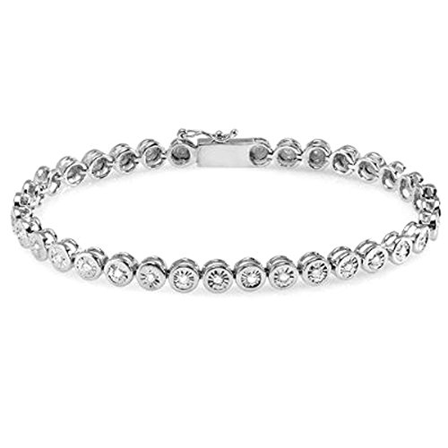 Dazzlingrock Collection 0.70 Carat (ctw) Round Diamond Ladies Bracelet 3/4 CT (7 Inch Length x 4.8 MM Wide), Sterling Silver ()