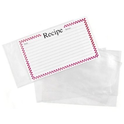 BigKitchen - Clear Vinyl 4 X 6 Inch Recipe Card Covers, Set of 48 - 2 Pack by BigKitchen