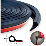 13ft Adhesive Universal Weather Stripping Pickup Truck Bed Tailgate Seal Kit, Keep Dust, Dirt and Moisture out of your Covered Truck Bed,EPDM Rubber Foam Draught Excluder (Tailgate Seal Kit)