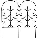 Black Ornamental Victorian Garden Fences, 32.4''H x 28.3''W