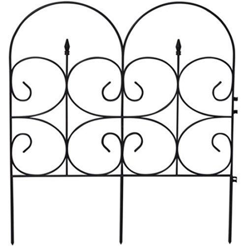 Black Ornamental Victorian Garden Fences, 32.4''H x 28.3''W by Emsco