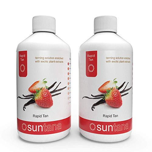 Suntana Erdbeere & Vanille Duftend Rapid Schnell Sprühbräune Lösung - 500ml (2 X 250ml)