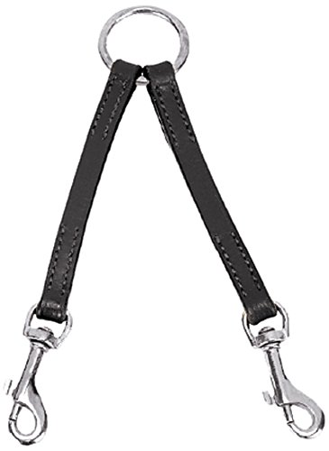 - Casual Canine 2-Way Leather Dog Coupler, 12-Inch, Black