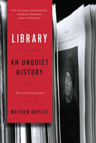 book cover of Library - An Unquiet History
