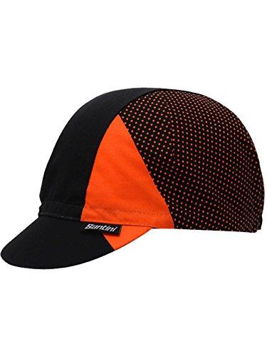 Santini Orange 365 Cotton Cycling Cap (Default, Black) ()