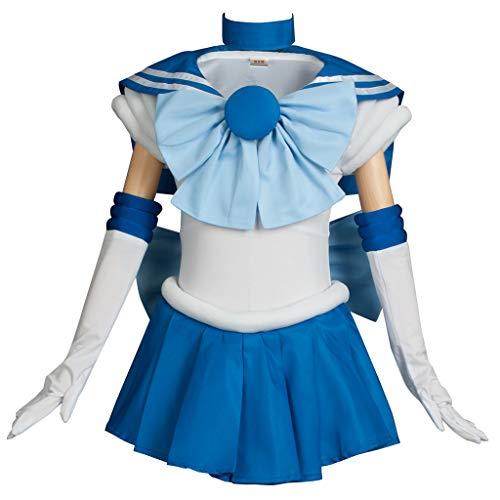 (Cosfun Kids Girl Pretty Sailor Mercury Mizuno Ami Cosplay Costume K-mp000571 (Kid)