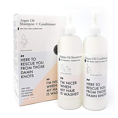 Aumenta el Crecimiento del Cabello Set de Champu Argan y Acondicionador, Aceite de argan. Estimula Cabello, Ayuda a la perdida de cabello, Crecimiento, Tratamiento para hombres y mujeres