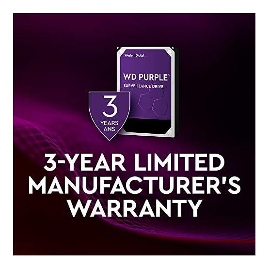 """WD Purple 8TB Surveillance Internal Hard Drive - 7200 RPM Class, SATA 6 GB/S, 256 MB Cache, 3.5"""" - WD82PURZ 41 U8ofIJsL. SS555"""