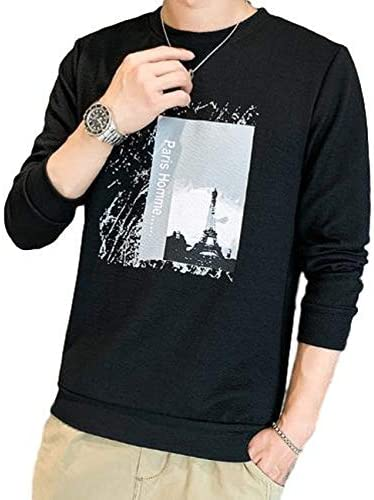 Tシャツ メンズ 長袖 ロンT トップス カットソー ロングTシャツ カジュアル プリント M~2XL