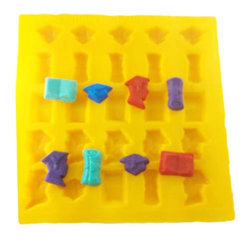 Flexible Molds - Graduation (25 cavity) - Cream Cheese Mint Molds - Candy Melts - Fondant - Caramels - Soft Candy Molds