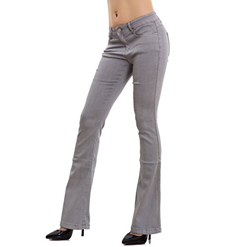 skinny elasticizzati Chiaro campana elefante Toocool Grigio pantaloni zampa donna nuovi Jeans AF108 IPF4nqwta