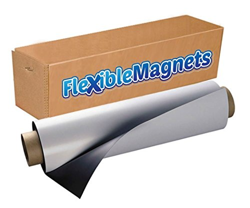 Flexible Magnet Sheet With Adhesive, 30mil Thick. Ideal for DIY Projects at Home - Office - Auto - Shop - Crafts and More! (2' x 50') by Flexible magnets