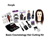 ZEEPK BASIC BEGINNER COSMETOLOGY SALON HAIR CUTTING KIT TOOLS