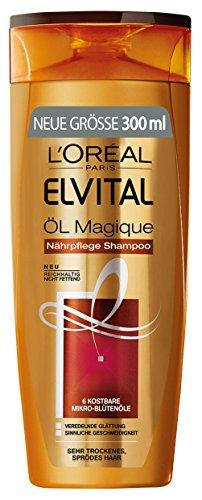 L'Oréal Paris Elvital Shampoo Öl Magique trockenens Haar, 3er Pack (3 x 300 ml)
