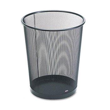 Eldon Wastebasket - Rolodex™ Mesh Round Wastebasket WASTEBASKET,WIRE,MESH,BK (Pack of5)