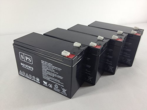 12V 7Ah (From SPS) Go-Ped ESR750EX Scooter Replacement Battery ( 4 Pack)