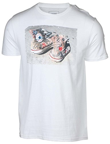 Converse Men's Chuck Taylor Chucks Photo T-Shirt-White-2XL