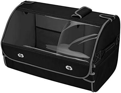 カーオーガナイザートランク 車の収納ボックス - カーのトランクオーガナイザー折り畳み式のカバーヘビーデューティ折りたたみ車のトランク収納オーガナイザーの車のトランクカーゴオーガナイザーふた付き - 2つのサイズから選択します -カーアクセサリー (Color : B, Size : 50x32x33cm)