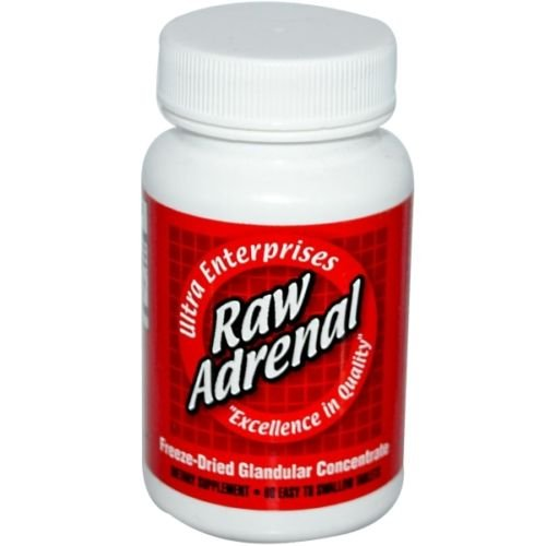 (Ultra Glandulars Raw Adrenal Tablets, 200 Mg, 60 Count)