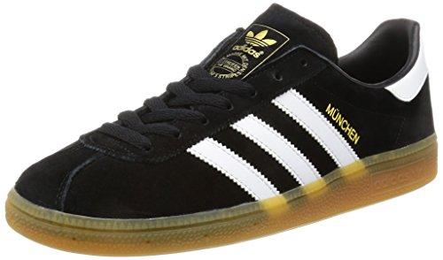 Les Hommes Adidas Chaussures De Course Munich Noir (noyau / Blanc Ftwr Gomme)