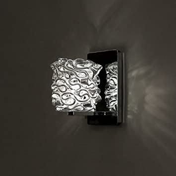 WAC Lighting WS72LED-G544SL//CH Candy LED Pendant Fixture Wall Sconce with Glass Silver//Chrome One Size