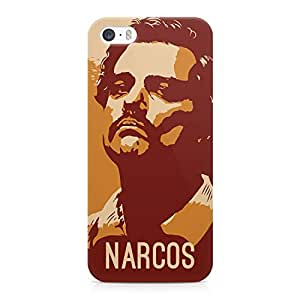 Loud Universe Narcos TV Show Printed Wrap Around iPhone SE Case - Brown and Orange