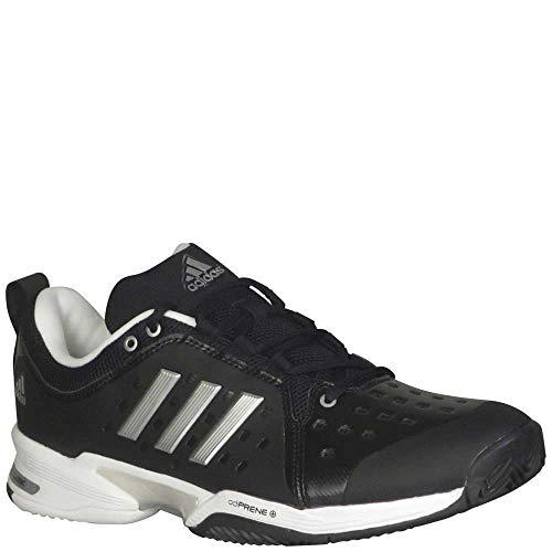 Tennis Shoes Barricade Adidas (adidas  Barricade Classic Wide 4E Tennis Shoe,black/silver metallic/white,9 US)