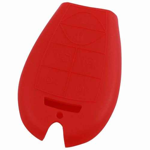 KeyGuardz Red Rubber Keyless Entry Remote Key Fob Skin Cover Protector (2010 Dodge Caravan Key Fob Shell)
