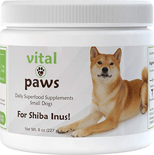 Vital Paws for Shiba Inus | Daily Superfood Biscuits | Dog Multivitamins & Supplements | Contains Omega-3 Fish Oils, Turmeric, Probiotics, and More!