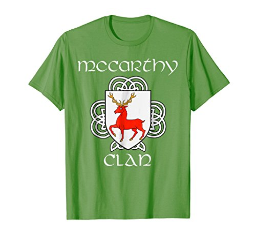 - McCarthy Family Crest Coat of Arms T Shirt