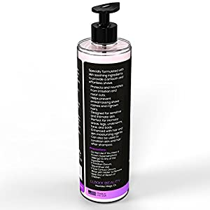 Luxxx Beauty Lush 8 Fl Oz Intimate Shave Lotion and Conditioner for Women - Smooth Shaving Cream for Women's Sensitive Skin - Light Floral Scent for Her