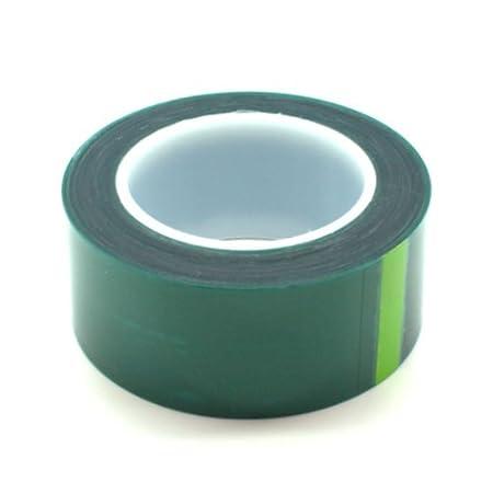assortis haute température Polyester rubans, Vert film rubans 3,6,10,12.7,25.4,40, et 50mm–220C ° Revêtement poudre résistant à la chaleur, du ruban adhésif rubans de masquage pour