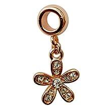 Beautiful Charm flower for pandora bracelet in plating