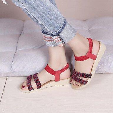 RTRY La Mujer Sneakers Confort Lienzo Pu Confort Informal De Resorte Plano Blanco US5.5 / EU36 / UK3.5 / CN35