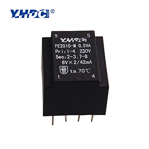 PE2010-M Power 0.5VA 110V/15V Expory resign encapsulated safety isolating transformer PCB Welding - Transformer Pcb