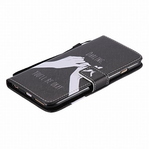 LEMORRY Apple iphone 6s Plus (5.5) Custodia Sbalzato Pelle Cuoio Flip Portafoglio Borsa Sottile Fit Bumper Protettivo Magnetico Chiusura Standing Card Slot Morbido Silicone TPU Case Cover Custodia per