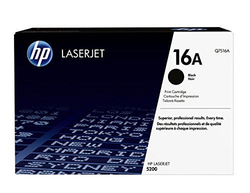 HP 16A (Q7516A) Black Toner Cartridge for HP LaserJet 5200
