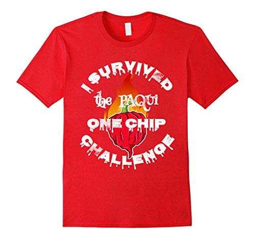 Mens Paqui One Chip Challenge Ghost Pepper Survival Swag T-Shirt 2XL Red Chip And Pepper Clothes