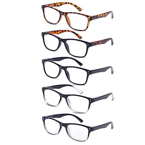 Amazon.com: EFE - Gafas de lectura (5 unidades, incluye 1 ...