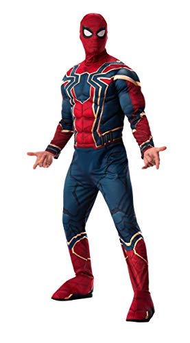 Avengers Halloween Costumes For Adults (Rubie's Men's Marvel Avengers Infinity War Iron Spider-Man-Man Deluxe Costume,)